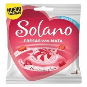 Caramelos de fresa y nata Solano sin gluten 99 g.