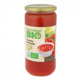 Tomate triturado primera ecológico Carrefour Bio sin gluten 660 g.