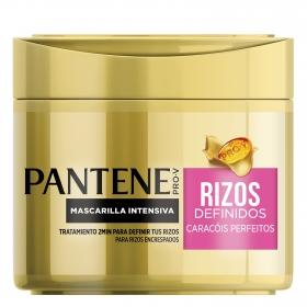Mascarilla capilar intensiva rizos perfectos para cabello normal y grueso Pantene 300 ml.