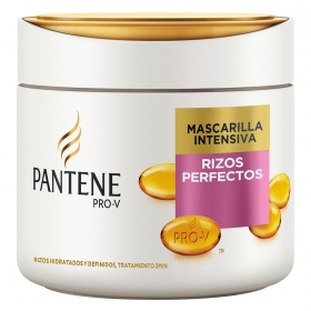 Mascarilla intensiva rizos perfectos para cabello normal y grueso Pantene 300 ml.