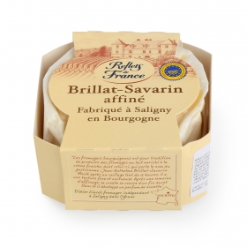 Queso brillan savarin tradición de leche cruda Briarde pieza 100 g