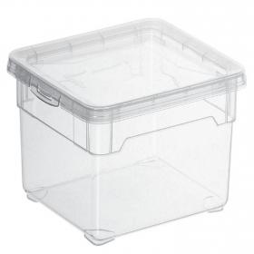 Caja con tapa de Plástico Basic 2 Litros Transparente