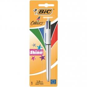 Bolígrafo 4 Colours Shine Bic