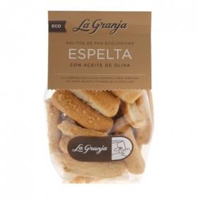 Palitos de pan con aceite de oliva ecológicos La Granja 150 g.