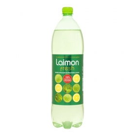 Refresco de lima-limón Laimon Fresh con gas botella 1,5 l.