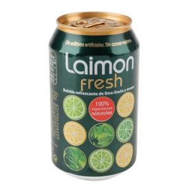 Refresco de lima-limón Limon Fresh con gas lata 33 cl.