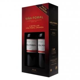 Estuche de Vino Tinto D.O. Rioja Crianza Viña Pomal pack de 2 botellas de 75 cl.