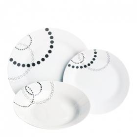 Vajilla 18 piezas porcelana decorada Mod. Geom