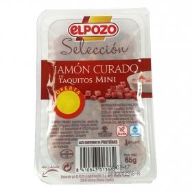 Jamón taquitos mini El Pozo 65 g.