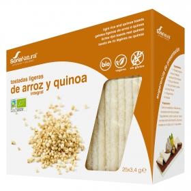 Tostadas ligeras de arroz integral y quinoa ecológicas