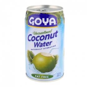Agua de coco Goya sin azúcar lata 35 cl.
