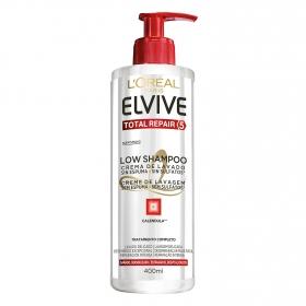 Crema de lavado Low Shampoo Total Repair 5 para cabellos dañados