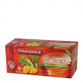 Té rojo con anís y lima limón en bolsitas Pompadour 20 ud.