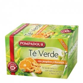 Té verde con jengibre y naranja en bolsitas Pompadour 20 ud.