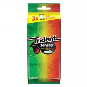 Chicle sabor melón Senses Trident 3 paquetes de 23 g.