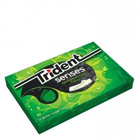 Chicles sabor hierbabuena Senses Trident 12 ud.