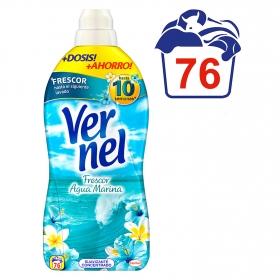 Suavizante concentrado frescor aguamarina Vernel 76 lavados.