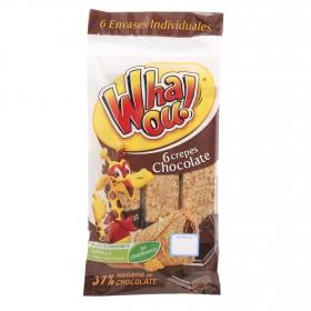 Crepes de chocolate Whaou