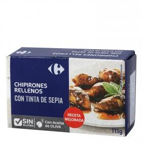 Chipirones rellenos en su tinta Carrefour 72 g.