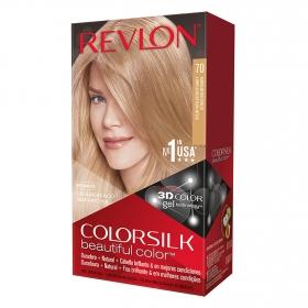 Tinte Colorsilk nº 70 Rubio mediano cenizo Revlon 1 ud.