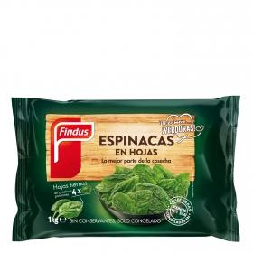Espinacas en hojas Findus 1 kg.