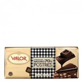 Chocolate negro 70% para postres