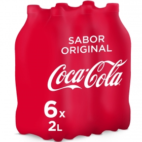 Refresco de cola Coca Cola pack de 6 botellas de 2 l.