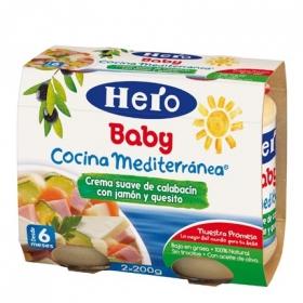 Crema suave de Calabacín con Jamón y Quesito para Bebés