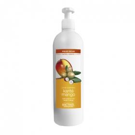 Leche corporal con karité y mango para piel seca Bactinel 400 ml.