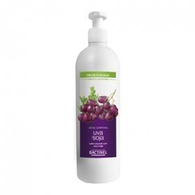 Leche corporal con uva y soja para pieles flácidas Bactinel 400 ml.