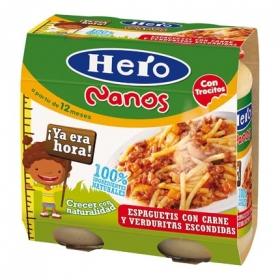 Espaguetis con carne y verduras para niños