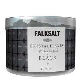 Sal marina negra en escamas Falksalt 125 g.