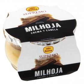 Milhoja crema y canela Supremo