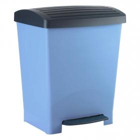 Cubo de basura  25 Litros pedal Azul