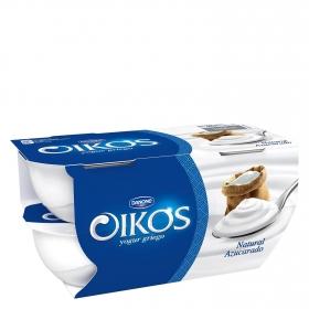 Yogur griego azucarado natural Danone Oikos pack de 4 unidades de 110 g.