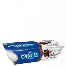 Yogur griego con stracciatella Danone Oikos pack de 2 unidades de 110 g.