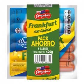 Salchichas de Frankfurt con queso