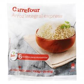 Arroz integral Carrefour pack de 6 unidades de 167 g.