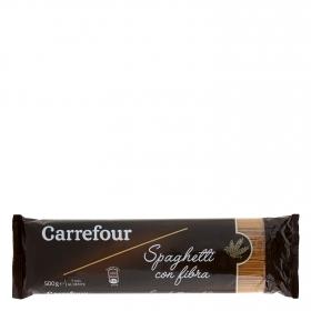 Espaguetis con fibra Carrefour 500 g.