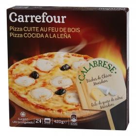 Pizza de queso de cabra al horno de leña Carrefour 440 g.