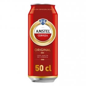 Cerveza Amstel 100% malta lata 50 cl.