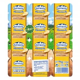 Mantequilla La Asturiana pack de 12 porciones de 8 g.