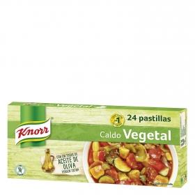 Caldo vegetal con un toque de aceite de oliva virgen extra Knorr sin gluten 24 pastillas