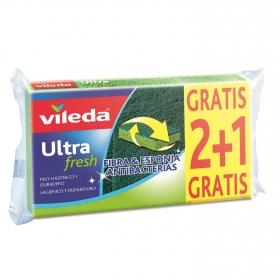 Estropajos Multiusos Fibra con esponja Vileda  - Verde