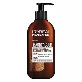 Champú para barba + cabello + rostro BarberClub