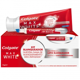 Pack dentrífico 75 ml. + lápiz blanqueador 5ml. Max White
