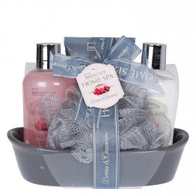 Set de baño cesta Home spa jabonera
