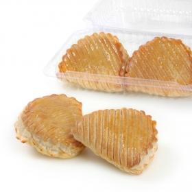 Crestas de manzana de hojaldre Carrefour envase 4 unidades de 105 g