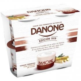 Yogur cremoso con azúcar de caña natural Edición 1919 Danone pack de 4 unidades de 120 g.
