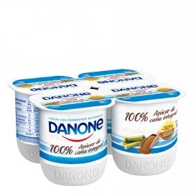 Yogur con  azúcar de caña integral Danone pack de 4 unidades de 125 g.